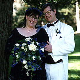 Ruth and me in our wedding best