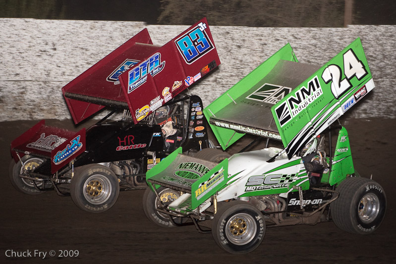 Tim Kaeding leads Tyler Walker at Antioch